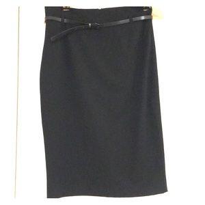 Express Black Pencil Skirt w/Belt - 6